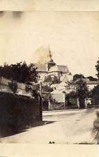 France Le Mans Une église  Vintage Albumen Print Tirage albuminé  9x12  Ci