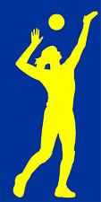 Autoaufkleber Volleyball Lady Frau 067 Aufkleber, Sticker
