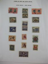 LOT of 19 South Africa, Suid Afrika Postage Stamps, 1d 3d 6d 2d Postage Revenue