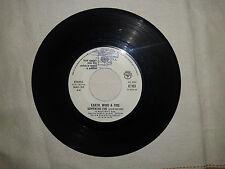 """Earth, Wind & Fire / Gianni Nazzaro -Disco Vinile 45 Giri 7"""" Ed. Promo Juke Box"""