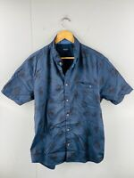 Elwood Men's Short Sleeved Button Up Casual Shirt Size XL Navy Black Floral