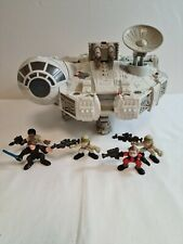 Vintage 2001 Hasbro Star Wars Millenium Falcon and assorted figurines