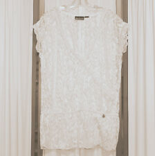 fe79d76603c Women's Top Lace DKNY Donna Karan Chantilly Floral Chalk White 38