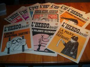 L'Hebdo Hara-Kiri -1969/70 Wolinski, Reiser, Cabu, Gébé... 5€ l'unité