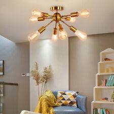 8 Lights Sputnik Chandeliers Gold Modern Flush Mount Ceiling Light Fixture