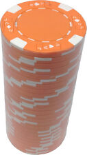 Poker Chips (25) Orange Ace Jack 11.5 g Clay Composite FREE SHIPPING *