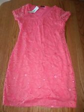 NWT WOMENS TIANA B. DRESS LACE CORAL PINK ORANGE SIZE SMALL S $98