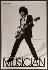 Jimmy Page Musician Magazine 24 X 16 VINTAGE PROMO POSTER Led Zeppelin