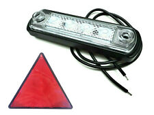 LED Umrissleuchte Positionsleuchte E9 weiß LKW PKW Anhänger Trailer mit Dreieck