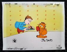 Garfield Original Production Cel Opc Uf Signed Jim Davis Fat Cat Ham Animation