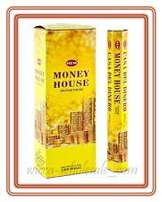 Lot Of 120 Stick Money House Incense Hem ~ 6 Tube Of 20 Sticks = 120 Fresh Stick
