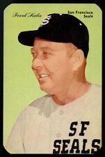 1952 D357-1 1953 D357-2 TYPE I CUT ON TYPE II CARD ~ #44 ~ FRANK KALIN ~ PCL