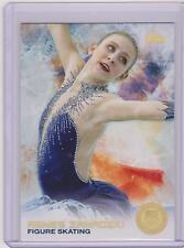 SUPER RARE 2014 TOPPS OLYMPIC AGNES ZAWADZKI GOLD RAINBOW CARD 96 FIGURE SKATING