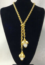 Vintage Beautiful Pearls Flower Cluster Necklace Early Unsigned Miriam Haskell