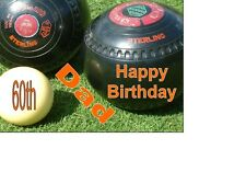 PERSONALISED Green Bowling Indoor Outdoor Bowling A5 Birthday Card ANY NAME AGE