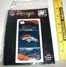 MOBILE PHONE NFL DENVER BRONCOS BLING DECAL APPLIQUE FITS IPHONE 4 & IPHONE 4S