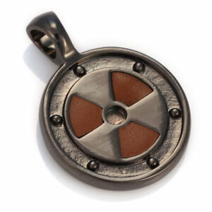 BICO AUSTRALIA LEATHER INSERT NUCLEAR (GREATNESS OR FATEL FLAW) PENDANT