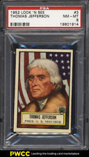 1952 Topps Look 'N See Thomas Jefferson #3 PSA 8 NM-MT (PWCC)