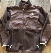 NORTH FACE brown Fleece Jacket girls Size Large