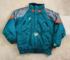STARTER NFL PRO LINE Miami Dolphins Hooded Winter Jacket Parka Size 2XL