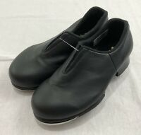 Bloch Dance Girls Tap Flex Slip On Tap Shoes Black Leather Girls 10 New