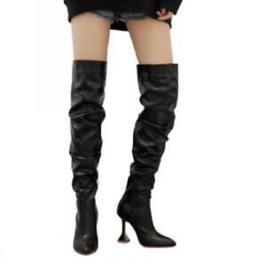 Sexy Women's Nightclub Over The Knee Boots Kitten Heel Thigh High Booties 42 L