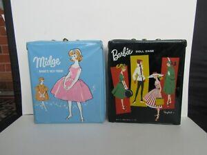 Vintage Mattel 1963 Midge & 1961 Barbie Doll Cases