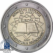 Deutschland 2 Euro Römische Verträge 2007 bankfrisch Gedenkmünze Münzzeichen J