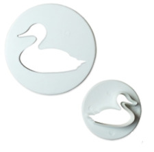Swan Duck Cookie Cutter Plunger Animal Icing Cake Decorating Fondant Mould 2 Pcs