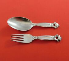 Acorn by Georg Jensen Sterling Silver Baby Set 2-Piece Fork Spoon Antique