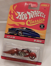 Hot Wheels Classics S2 W-Oozie Spectra Red Motorcycle Custom Chopper S2 27/30