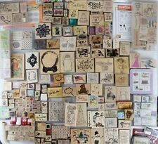 Huge Lot of OVER 250 Wood Mounted Rubber Stamps Holidays Alphabet Pooh Insects