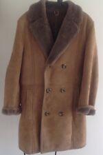 Men's Brown Sheepskin Coat. Size 42/ XL
