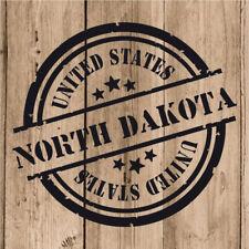 Vinilo de Corte North Dakota Pegatina Dakota del Norte USA United States 10 cm