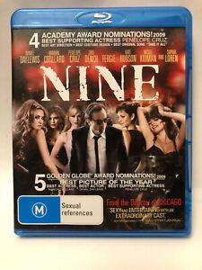 NINE Daniel Day-Lewis, Marion Cotillard, Penelope Cruz, Judi Dench Blu-Ray DISC