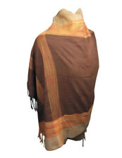 Ladies Scarf Wrap Pashmina Brown Stripe Colour Shawl Large Soft Feel