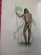 COSTUME AUSTRALIE / Naturel de Princesse Marianne 1847 rehaussée de couleurs