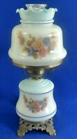 Vintage 3 Way Milk Glass Flower Ruffle Top Gone With The Wind GWTW Table Lamp