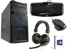COMPLETE GAMING SET Computer Keyboard Headset PC AMD Computer Windows 10 SSD