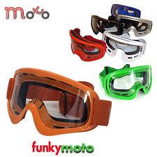 MOTO X1 MX MOTORRADBRILLE ERWACHSENE MOTOCROSS BMX QUAD SKI  BRILLE ORANGE