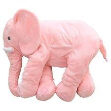 MorisMos Stuffed Elephant Plush Pillow Toy Pink 24 inch/60cm