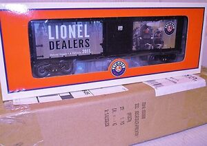 LIONEL #34359 DEALER APPRECIATION 2011 BOXCAR mint inthe box with master cartin