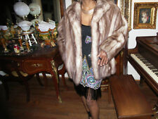 Custom Stone marten Sable Fur Coat Jacket Bolero M-L