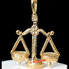 3D LIBRA 'Scales' ZODIAC 24k GOLD Layered Charm / Pendant + LIFETIME GUARANTEE