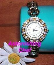 AVON BEJEWELED STRETCH BRACELET WATCH STUNNING!