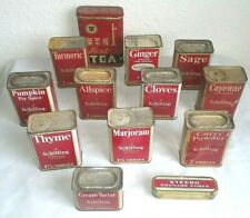 Vintage Lot of 13 - 1933 A Schilling & Co of San Francisco Spice Tins     RMC