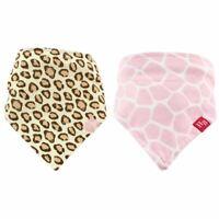 Hudson Baby Girl Bandana Bib, 2-Pack, Leopard Print