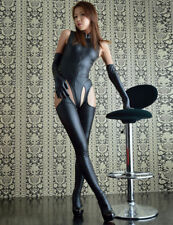 SEXY CATSUIT Faux Leather GLOVED TEDDY  Fetish Goth  SO Sexy 8 10 12  RBM