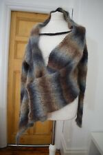 BNG DESIGN Mohair Wool Asymmetric cropped jumper Sleeved sweater Size Small £140