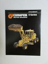 Champion C-Series Motor Grader Attachments Literature
